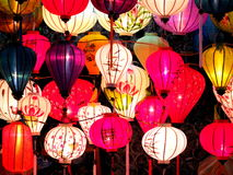 Mercado da noite das lanternas em HoiAn Imagens de Stock