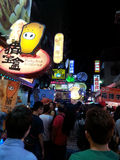 Mercado da noite de Formosa Foto de Stock