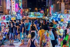 Mercado da noite de Ningxia fotos de stock royalty free