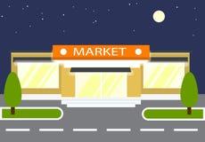 Mercado da noite loja Fotografia de Stock Royalty Free