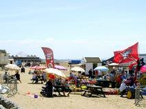 Mercado da praia, Weston-Super-égua. Fotografia de Stock Royalty Free