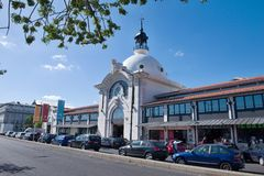 Mercado DA Ribeira - grandes espacios públicos Foto de archivo libre de regalías