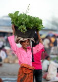MERCADO DE ÁSIA TIMOR-LESTE TIMOR-LESTE LOSPALOS Imagens de Stock Royalty Free