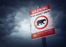 Mercado de acción del oso Imagenes de archivo