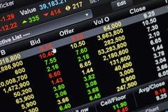 Mercado de acción del tecleo de la oferta Imagen de archivo libre de regalías
