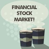 Mercado de acción financiero del texto de la escritura de la palabra Concepto del negocio para mostrar las seguridades financiera ilustración del vector