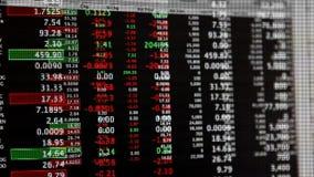Mercado de acción Live Quotes Streaming Financial Data almacen de metraje de vídeo