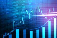 Mercado de acción o gráfico comercial de las divisas en concepto gráfico fotografía de archivo libre de regalías