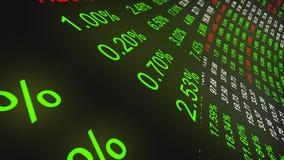 Mercado de acción y datos financieros libre illustration