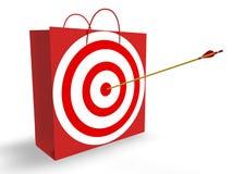 Mercado de alvo Imagens de Stock Royalty Free