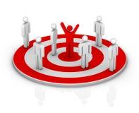 Mercado de alvo Imagem de Stock