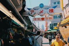 Mercado de Ameyoko imagem de stock