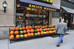 Mercado de Amish em Manhattan New York City imagem de stock