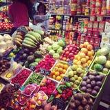 Mercado de Barcelona Boqueria Foto de archivo libre de regalías