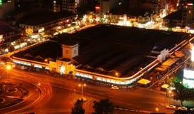 Mercado de Ben Thanh, Ho Chi Minh, Vietnam en la noche Fotografía de archivo