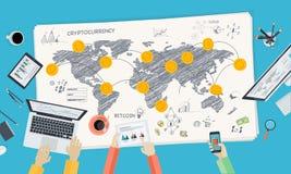 Mercado de Bitcoin ilustración del vector