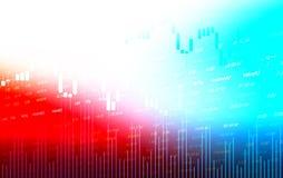 Mercado de bolsa de acción o indicador comercial de la inversión del análisis del gráfico de las divisas ilustración del vector