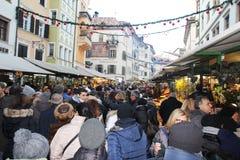 Mercado de Bolzen Imagen de archivo libre de regalías