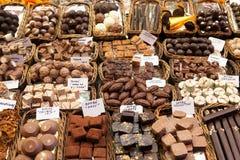 Mercado de Boqueria del La en Barcelona - España Fotografía de archivo libre de regalías
