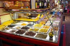 Mercado de Boqueria do La em Barcelona foto de stock royalty free