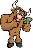 Mercado de Bull Imagem de Stock Royalty Free