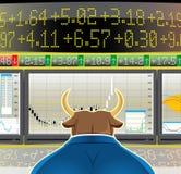 Mercado de Bull (, CMYK) Foto de Stock