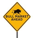 Mercado de Bull a continuación Foto de archivo libre de regalías
