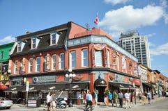 Mercado de Byward em Ottawa da baixa imagens de stock
