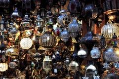 Mercado de C4marraquexe em Marrocos Foto de Stock Royalty Free