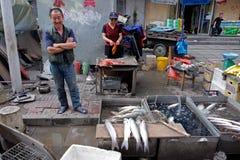 Mercado de calle chino Foto de archivo