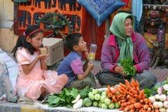 Mercado de calle de Leh foto de archivo