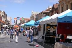 Mercado de calle de Rundle Fotografía de archivo
