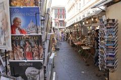 Mercado de calle en Roma, Italia fotos de archivo libres de regalías