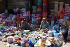 Mercado de calle indio Fotografía de archivo libre de regalías