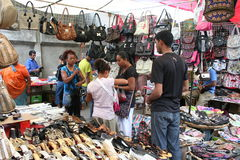 Mercado de calle mauriciano Imagen de archivo
