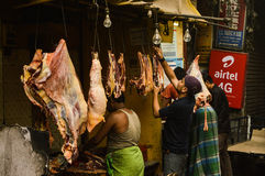 Mercado de carne Foto de archivo libre de regalías