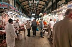 Mercado de carne de Atenas Fotografia de Stock Royalty Free