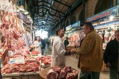 Mercado de carne de Atenas Imagens de Stock Royalty Free