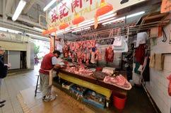 Mercado de carne de Hong Kong Fresh Fotos de archivo libres de regalías