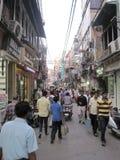 Mercado de Chandni Chowk en Delhi foto de archivo libre de regalías