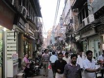 Mercado de Chandni Chowk en Delhi imagen de archivo libre de regalías