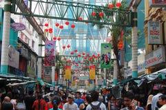 Mercado de Chinatown em Kuala Lumpur Fotografia de Stock