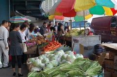 Mercado de Chinatown, New York City Fotografía de archivo libre de regalías