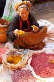 Mercado de cinco días, lago Inle Imagen de archivo
