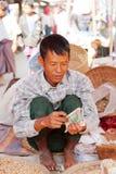 Mercado de cinco dias, lago Inle Imagens de Stock Royalty Free