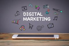 Mercado de Digitas, conceito da tecnologia dos meios foto de stock royalty free