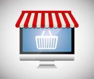 Mercado de Digitas e vendas em linha Imagens de Stock Royalty Free