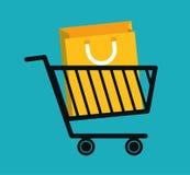 Mercado de Digitas e vendas em linha Imagem de Stock