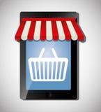 Mercado de Digitas e vendas em linha Fotografia de Stock