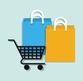 Mercado de Digitas e vendas em linha Fotos de Stock
